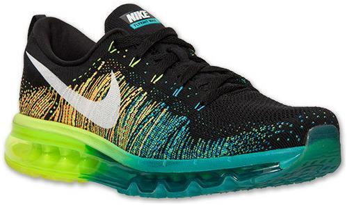 release date: b7146 f2908 Nike Air Max 2014 Flyknit Black Blue Green sold by giryhmfvuh