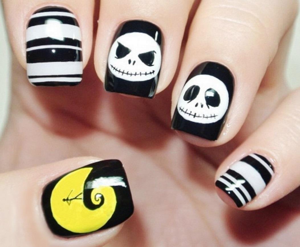jack skeleton nightmare before Christmas fake faux nails on Storenvy