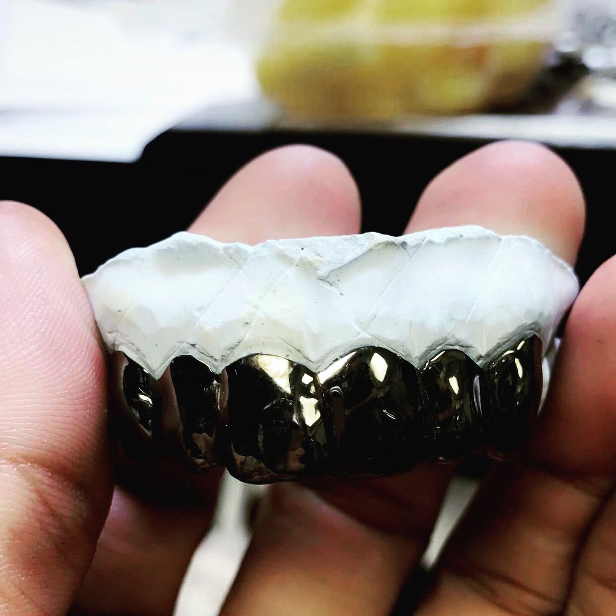 Custom 6 Teeth Joker Grill with Black Rhodium · CUSTOM GRILLZ ... d6e1e1297