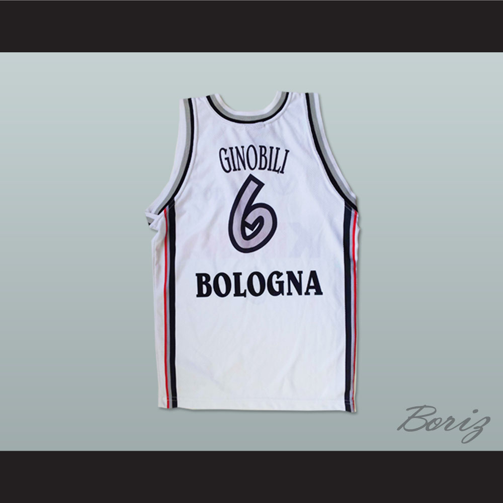 f234e505d34 Manu Ginóbili European Basketball Kinder White 6 Stitch Sewn All Sizes New  - Thumbnail 1 ...