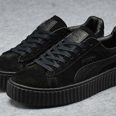 c34a2459ad85eb Rihanna fenty x puma creepers leather all black fashion shoes