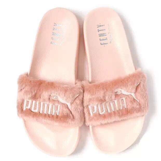 7b9026ffb47 Fashion Puma Fenty Fur Slide All Pink Slippers on Storenvy