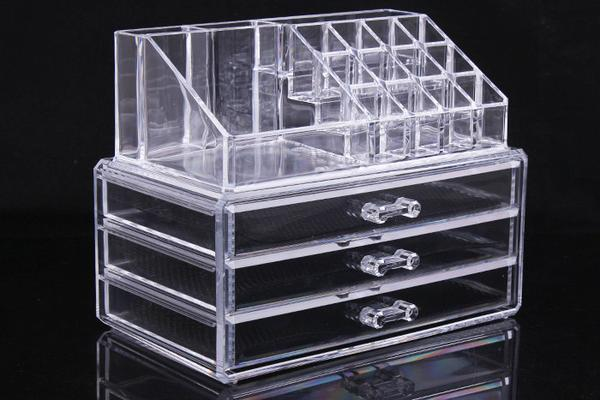 24 13 5 18 5cm 3 layer drawer box clear acrylic makeup organizer cosmetic storage stand