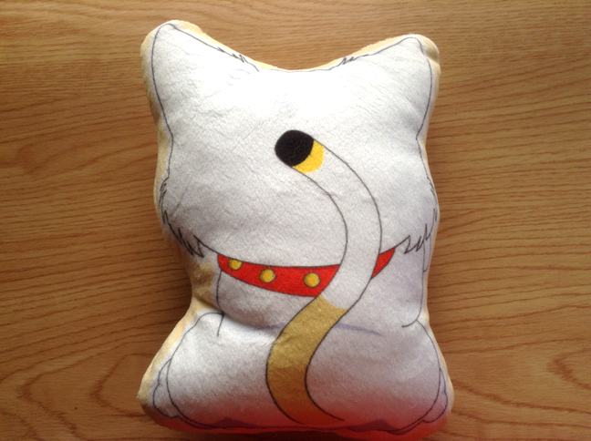 Lucky Cat Pillow Double Sided Lucky Cat Plushie Cat Plush Pillow