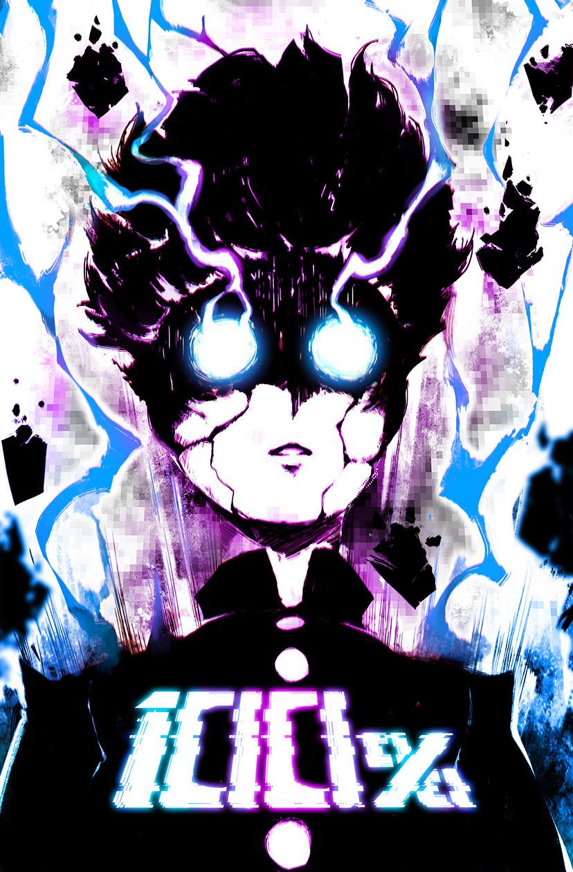 100%   Mob Psycho   11x17 Poster on Storenvy