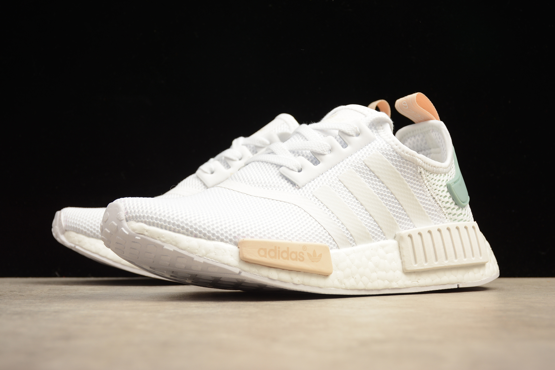 new arrival fb78f c8240 Adidas NMD R1 Boost runner White mint orange shoes from superstar