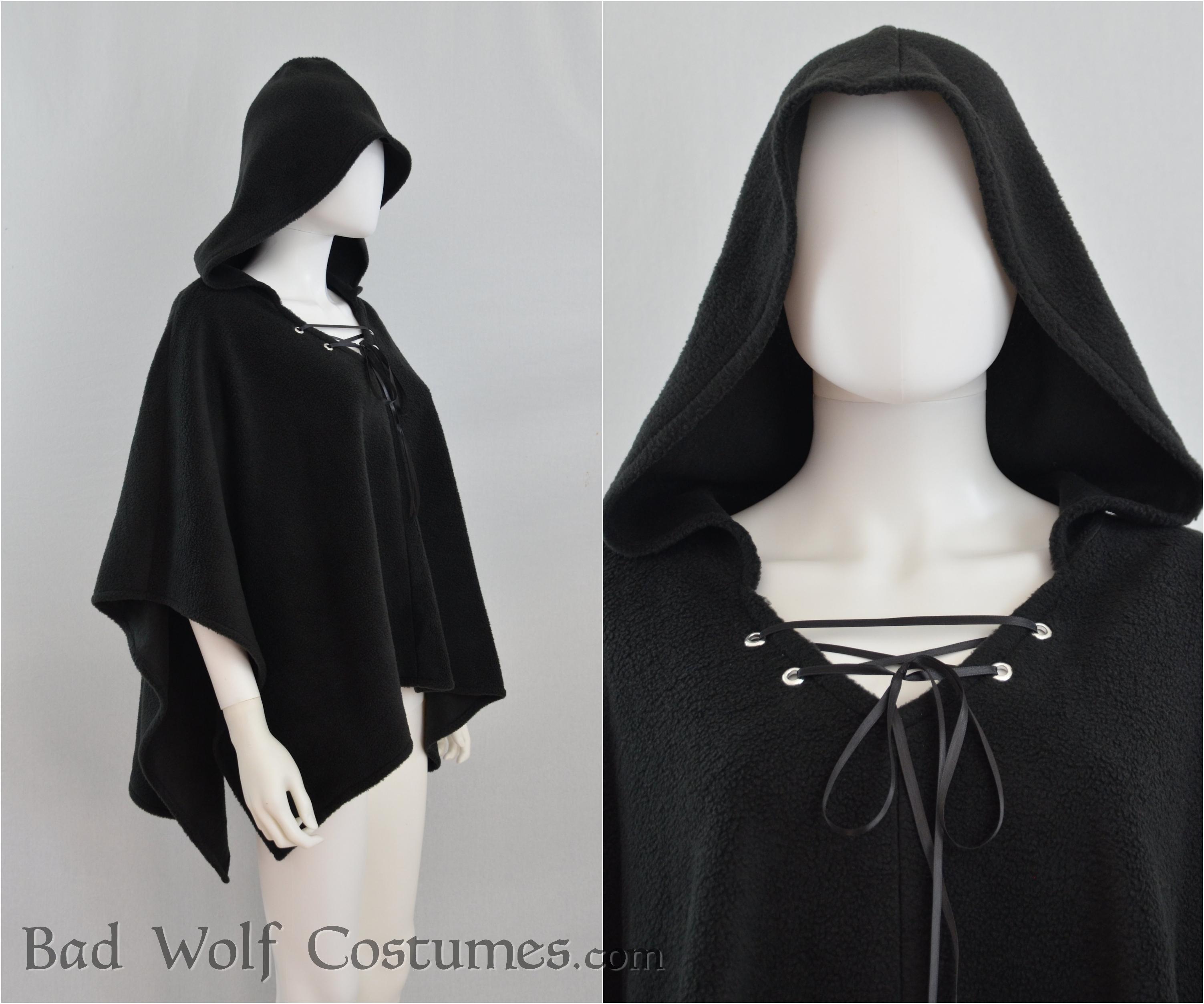 85ad07cbc2 Hooded Cloak - Color Options! - Fleece Cape Poncho - Fantasy