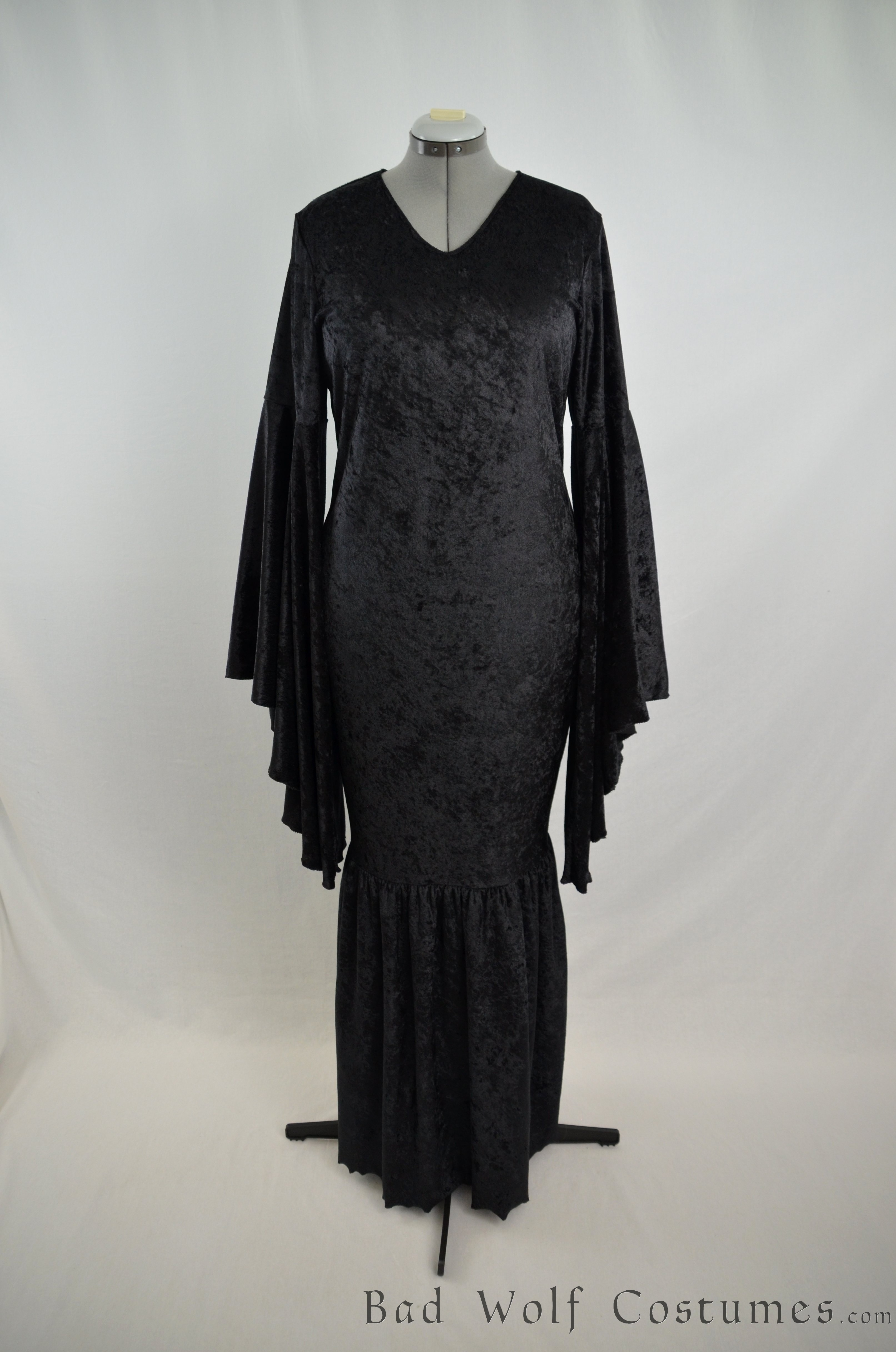 Morticia Addams Dress Gown - Gothic, vampire, mermaid, costume ...