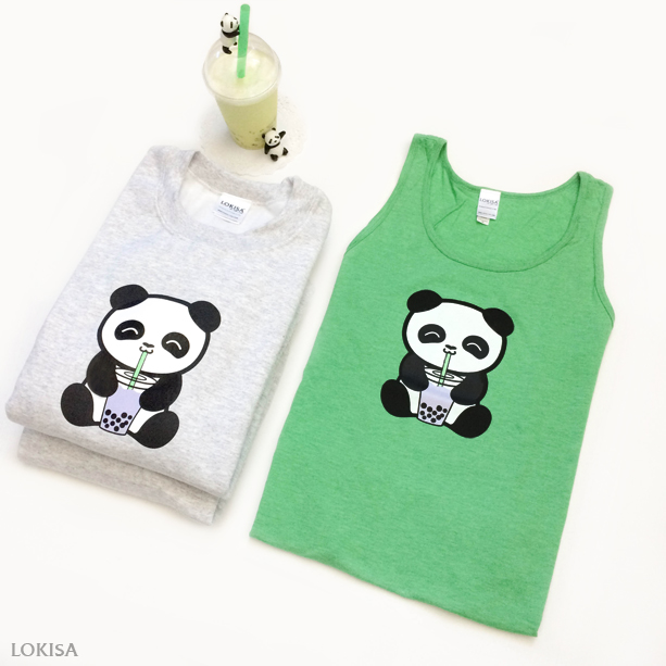 ae6886f12 Bubble Tea Boba Panda Crewneck Sweater Sweatshirt · Visual You ...