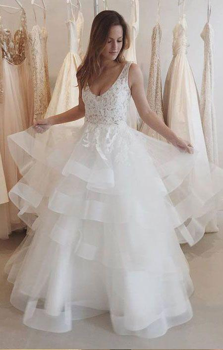 Disney Wedding Dress.Pretty Long V Neck Lace Ivory Backless Elegant Wedding Dresses Bridal Gowns Disney Wedding Gowns From 21weddingdresses