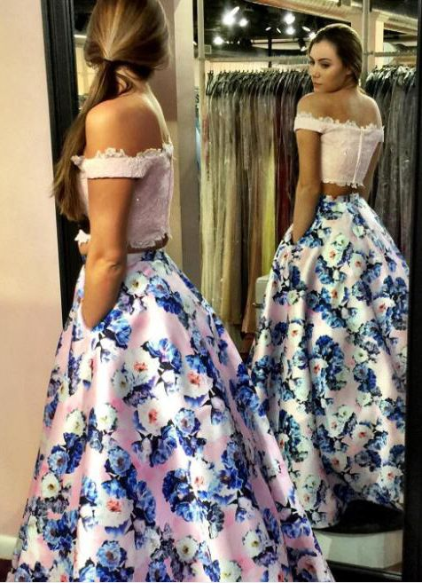 7ab301bcecf sexy 2 piece prom dresses