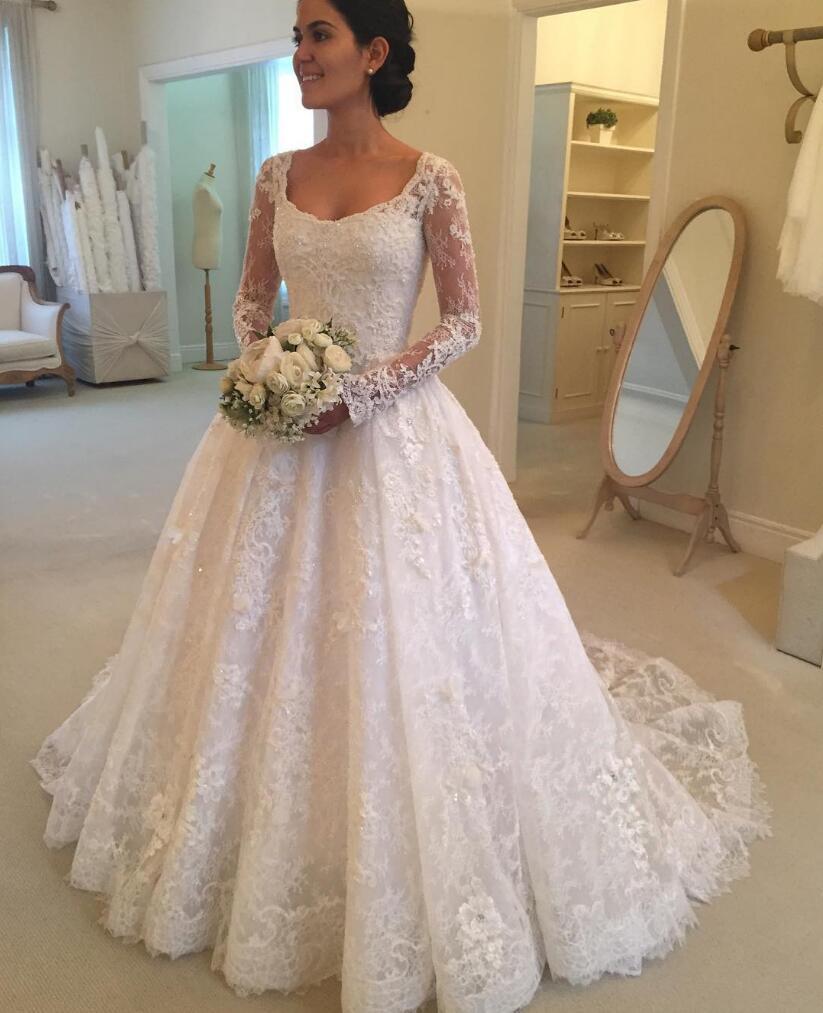 848a5d7c16 Boat Neck Wedding Dress