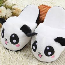 c05cef355 ... Cute Funny Panda Eyes Women Slippers Lovely Cartoon Indoor Home Soft  Shoes - Thumbnail 2 ...