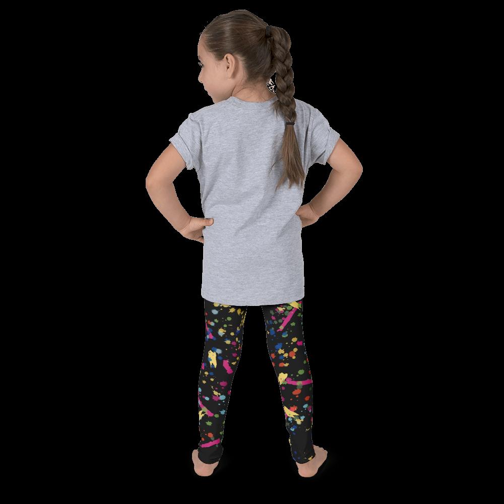 Mini Shatsu Little Girls Paint Splatter Legging