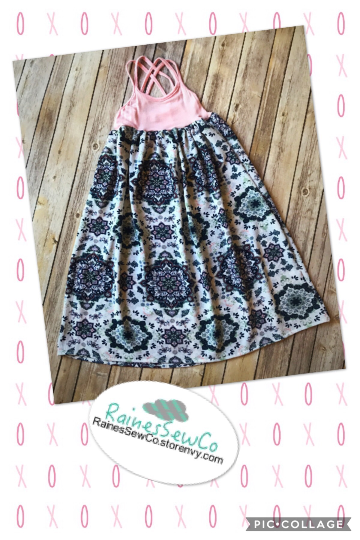 69ec913956b6 Mommy and Me Maxi Dress-Mommy and Me Summer Dress-Boho Dress-Cross ...
