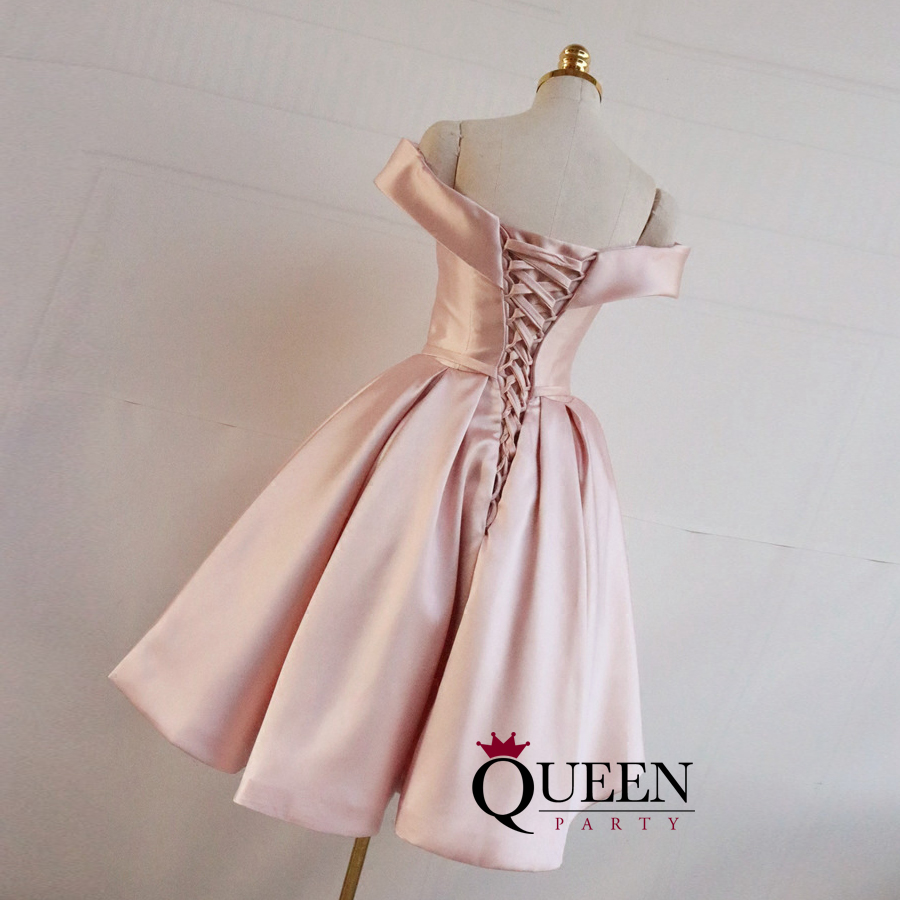 Lace Back Short Prom Dresses