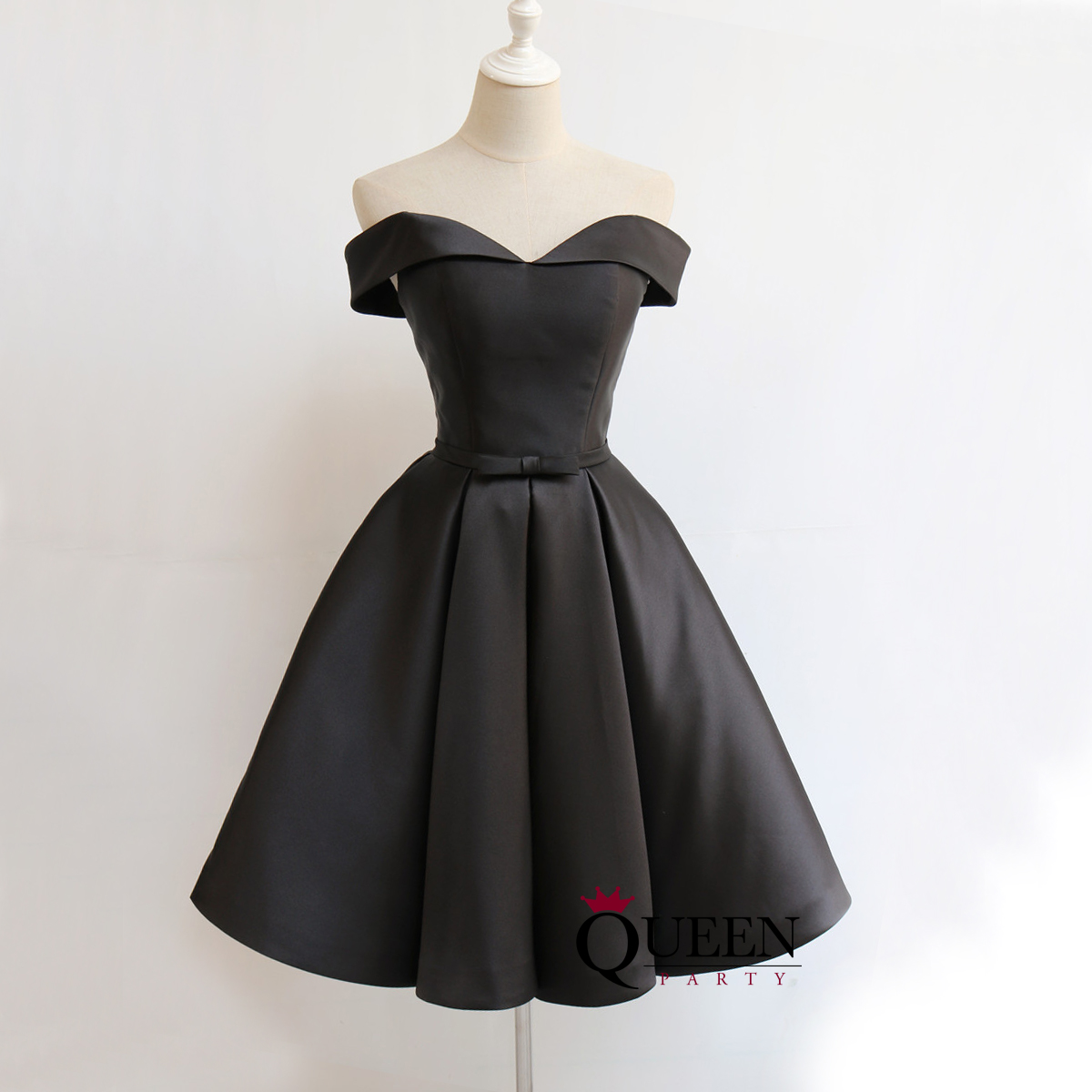 Black 3achampagne 20off the shoulder 20satin 20a line 20short 20prom  20dress 2c 20homecoming 20dress 20with 20lace 688c51275
