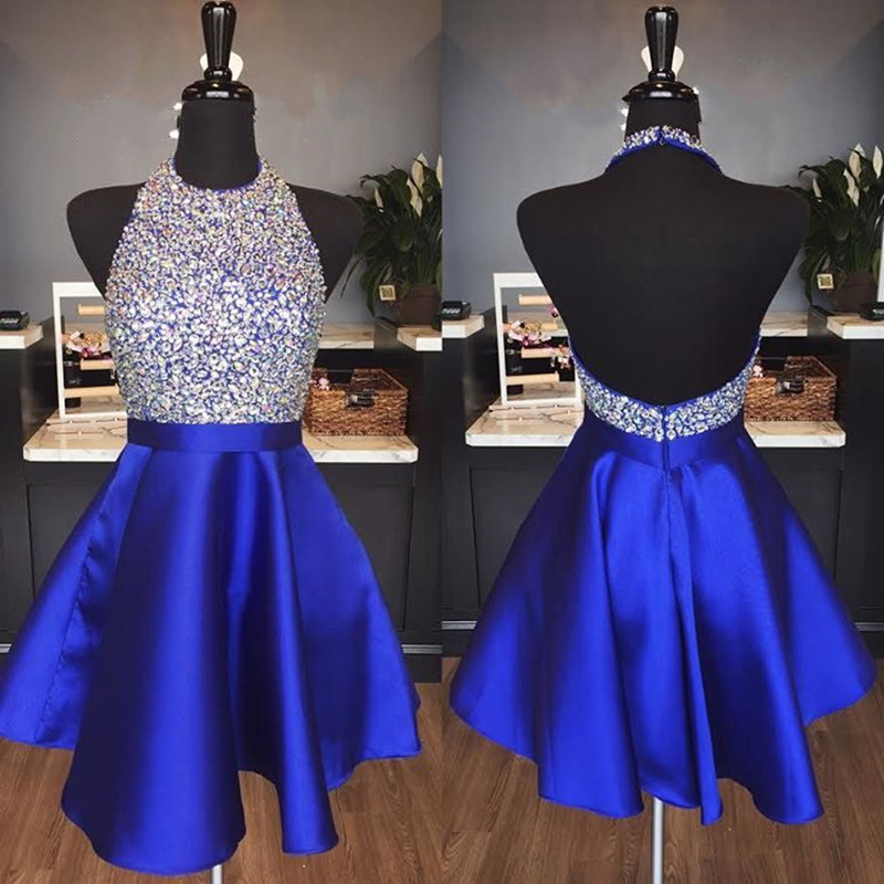 Blue Dress with Beading