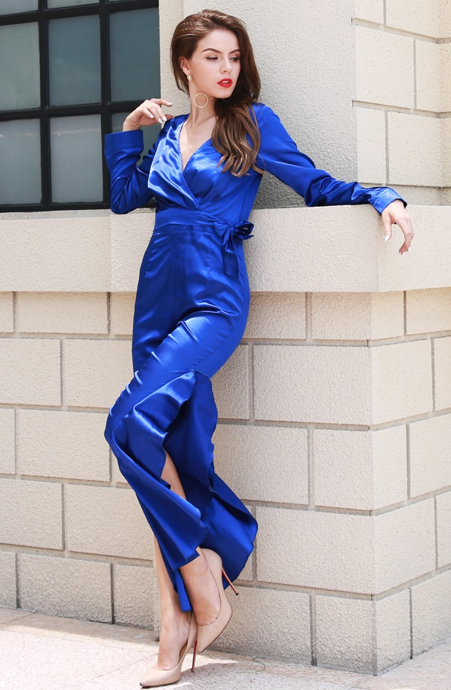 5efa2d434dbb Royal Blue Satin Jumpsuit · somethingshelikes · Online Store Powered ...