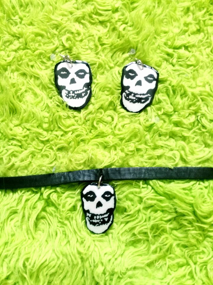 Misfits Choker And Earrings Set On Storenvy