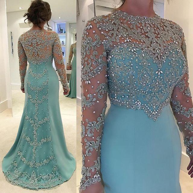 light Blue Plus Size Mother of the Bride Dresses, Evening Dresses