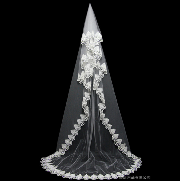 Cathedral Tulle Lace Wedding Veil Bridal Veil Nmq010 Onlyforbrides