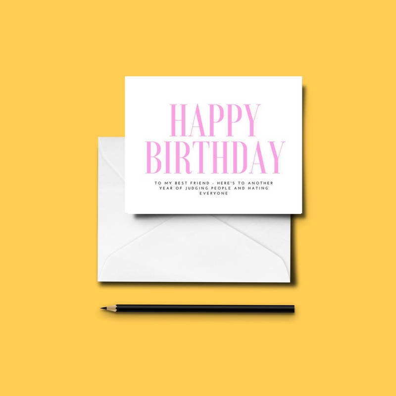 Funny BEST FRIEND Birthday Card Bestie Love Friends Humour