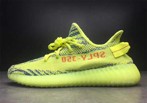 e6a374d0194c6 ADIDAS YEEZY BOOST 350 V2 Color  Semi-Frozen Yellow Raw Steel Red ...