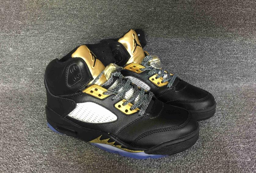 sports shoes ba447 e790f Air Jordan Retro 5 Olympic Gold Black Men shoes from Fashion7SHOP