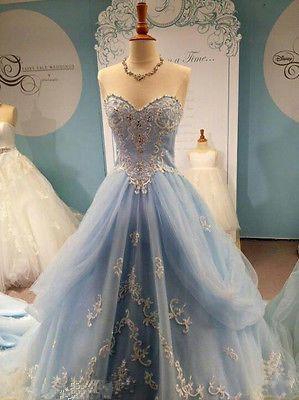 Pale Blue Ball Dresses