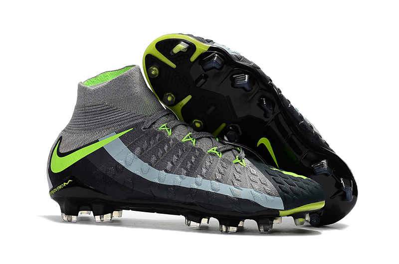 big sale 96ebf f3f34 Nike Hypervenom Phantom III DF FG Grey Green Black Soccer Cleats sold by  cleatssale4A