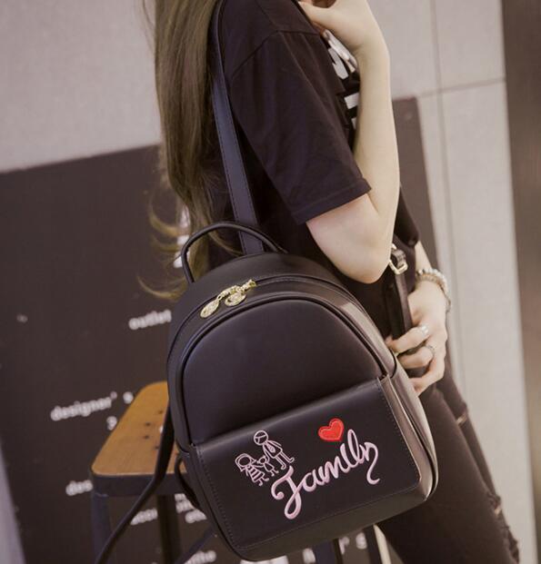 1260d4d9bb8b ... Backpack female Korean Pu fashion all-match simple cute mini small bag
