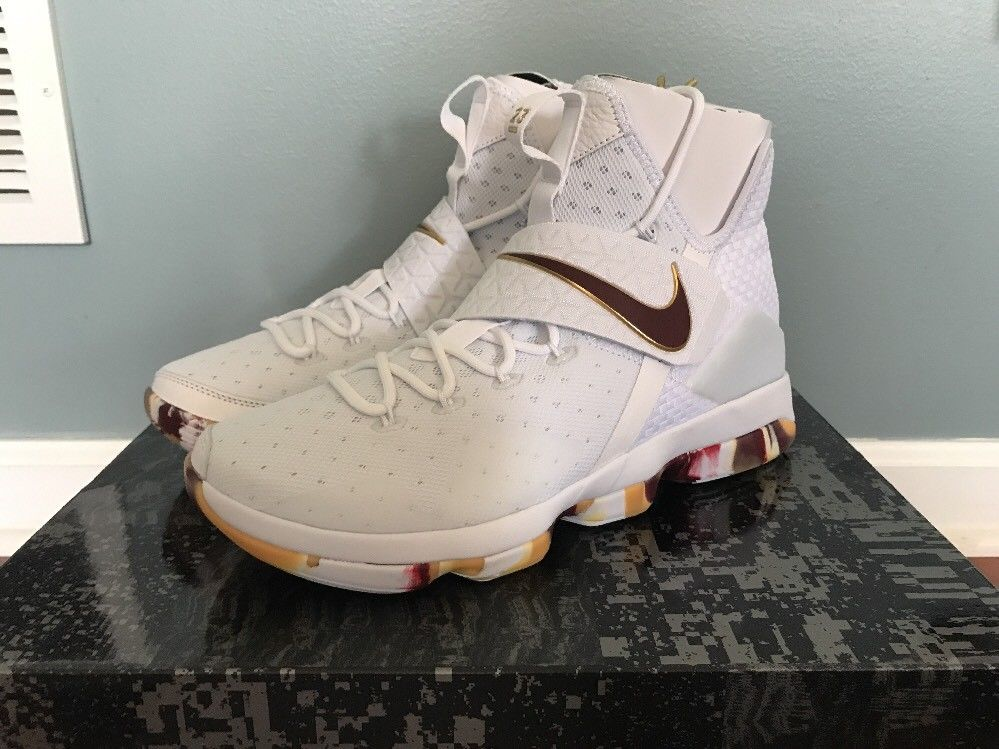 4393c0bcedbca Nike Lebron 14 XIV White Wine Camo Gum UNRELEASED Size 7-12 LIMITED CAVS  LIMITED on Storenvy