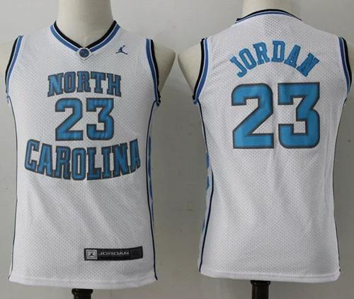 pretty nice 75c60 a3d8d North Carolina #23 Michael Jordan White Stitched Youth NCAA Jersey sold by  Jersey24sport
