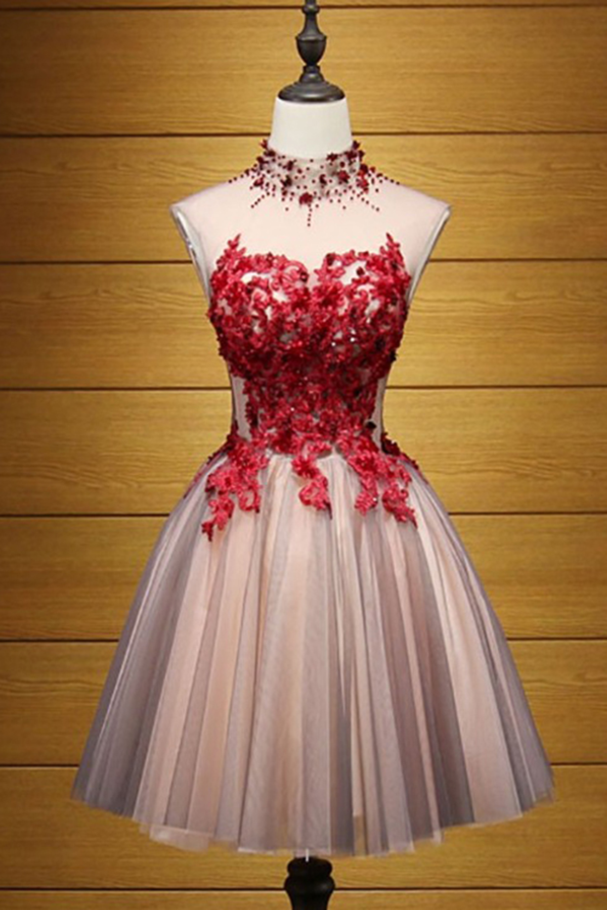 457f2c31a57 Cheap Prom Dresses by SweetheartDress · Cute high neck short red ...