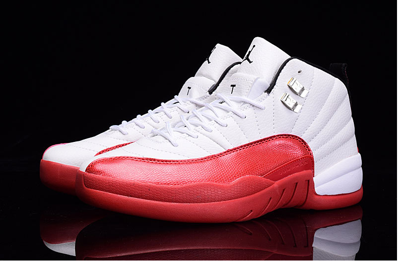 """100% high quality new arrive fashion styles Air Jordan 12 """"Cherry"""" White Varsity Red-Black sold by NFL4sport"""