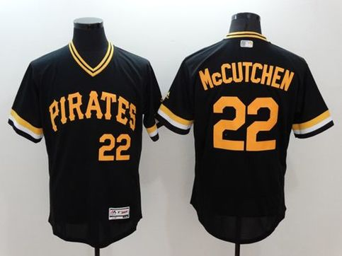 sports shoes a57a9 2e6dd Pirates #22 Andrew McCutchen Black Flexbase Authentic Collection  Cooperstown Stitched MLB Jersey sold by Jersey24sport