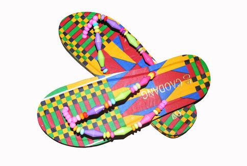 f16c1e73ec9b Women s Kente Traditional Thong Slippers Flip Flops Shoes Handmade Sandals  on Storenvy