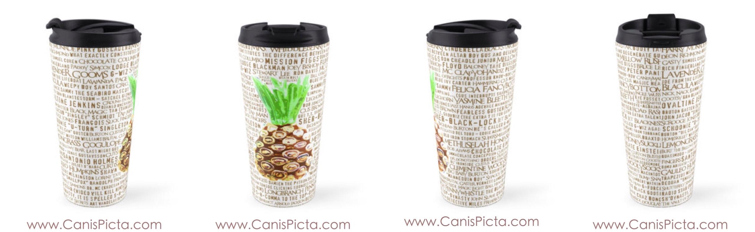 psych pineapple travel mug burton guster nicknames christmas cup tea