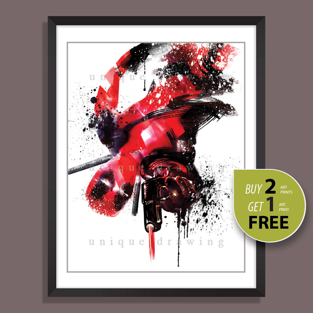 DEADPOOL MARVEL POSTER Wall Art Print Pic Photo A3 A4