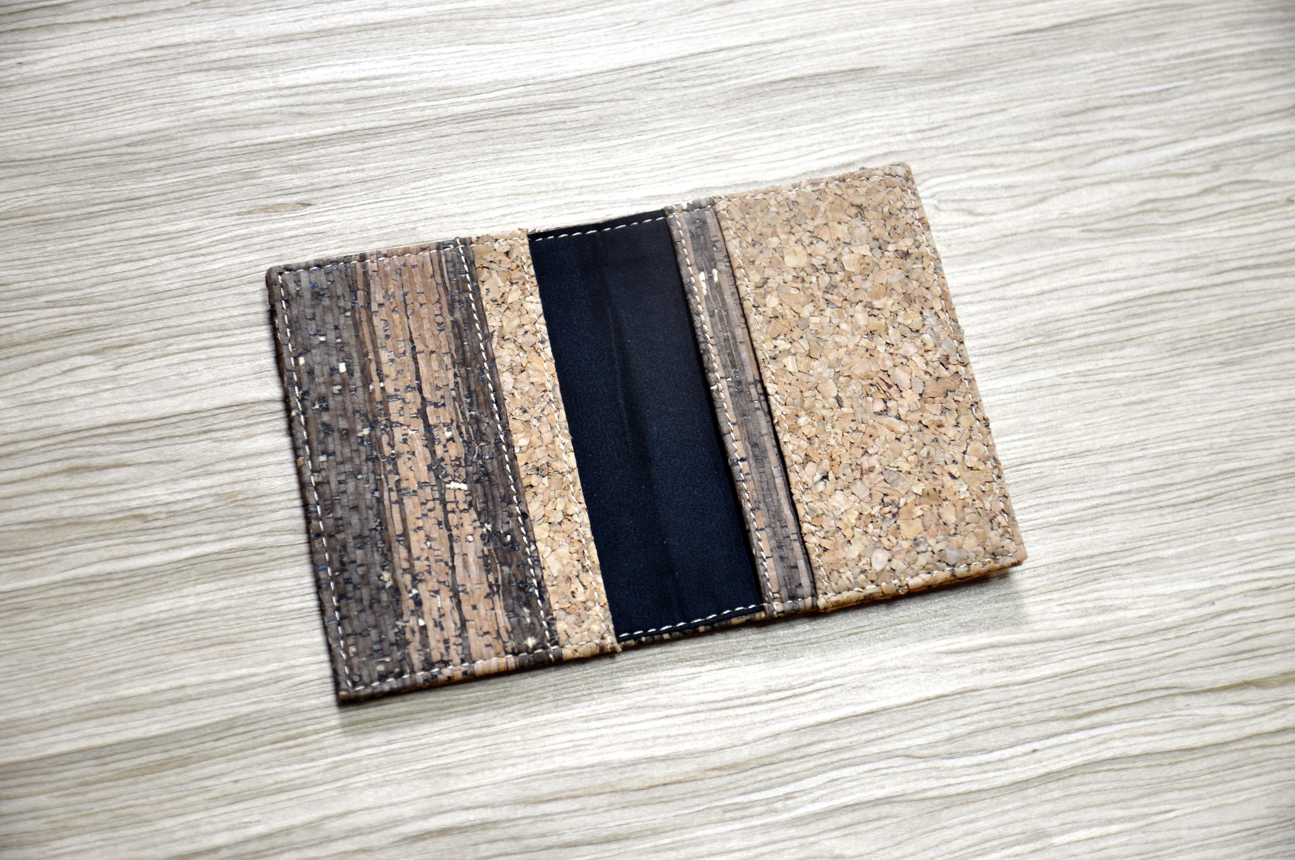 ps dsc0217 original mixed cork card holder - Bifold Card Holder