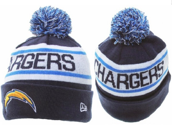 Nfl 20san 20diego 20chargers 20beanie 20new 20era 20knitted 20hat 20with  20pom 1159 original 21d70436310