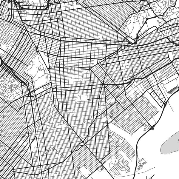 New York Framed Poster Urban Map Poster Wall Decor Urban Art Nyc