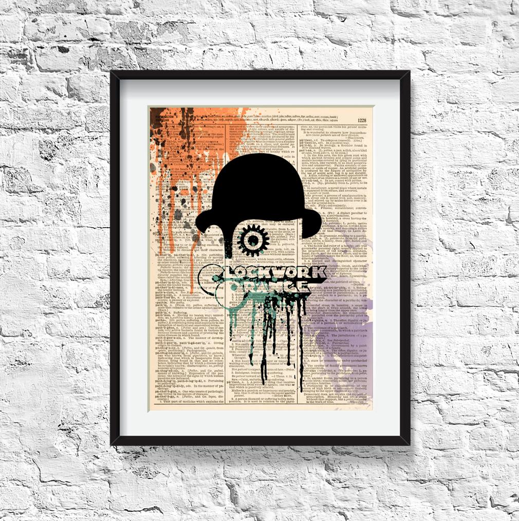 Dictionary Art print - A Clockwork Orange poster, film ...