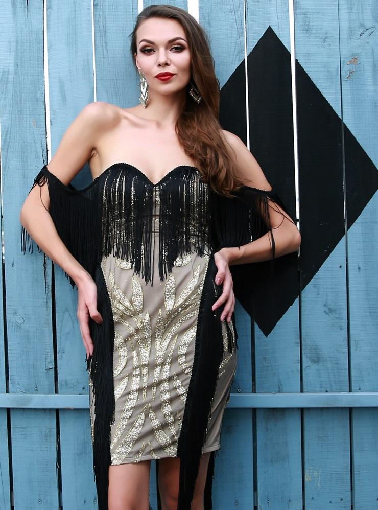 eb2b47cb50d Off Shoulder Fringe Dress · somethingshelikes · Online Store Powered ...