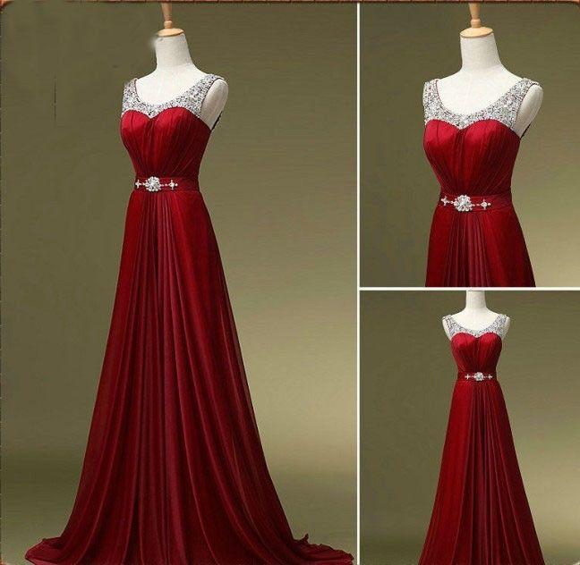 Red Prom Dressdiscount Prom Dresscustom Prom Dressbeaded Prom