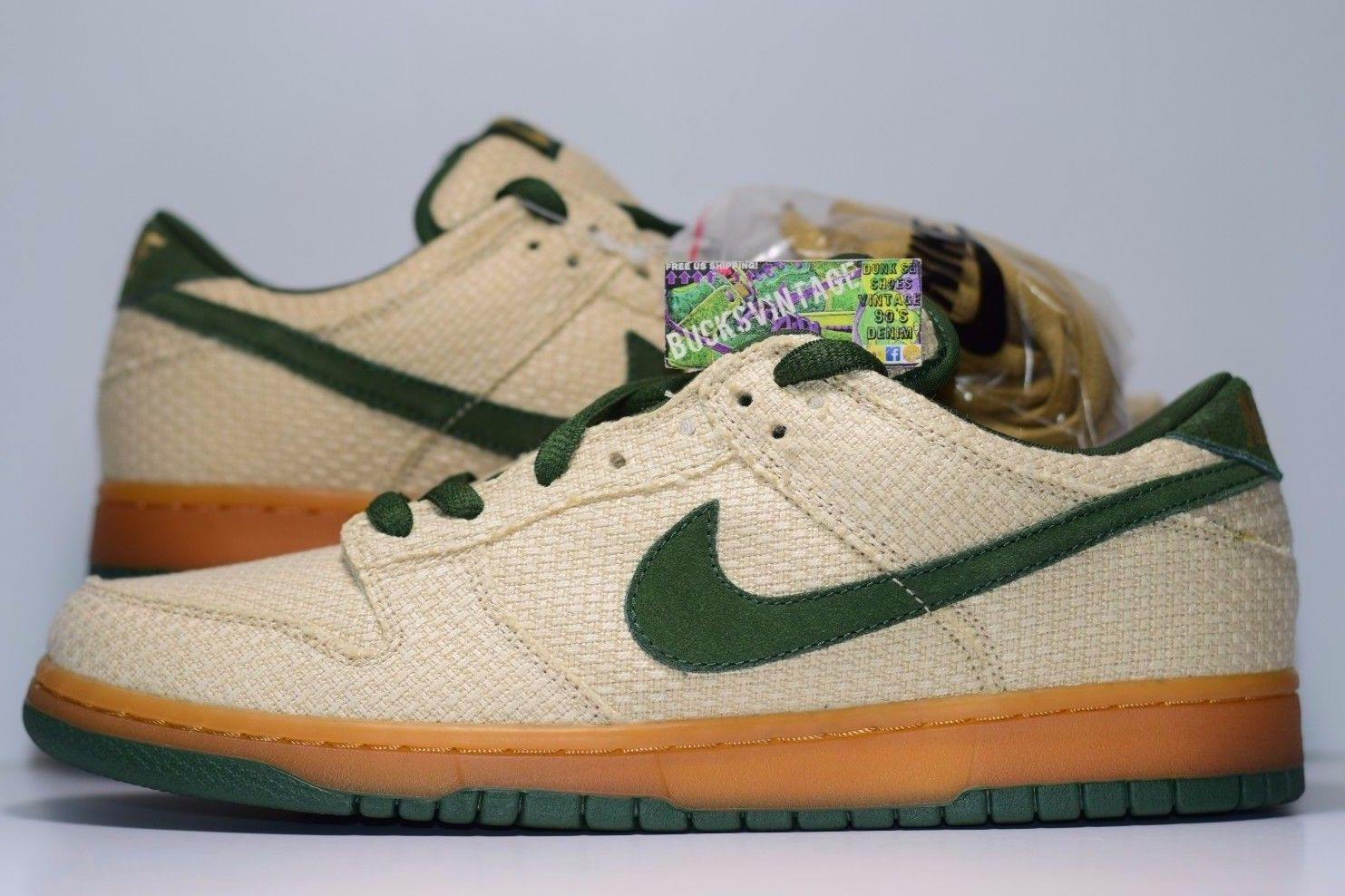 buy popular 2140f a9f27 Size 9.5 | DS 2004 Nike Dunk SB Low 420 Bonsai 304292-732 from BucksVintage