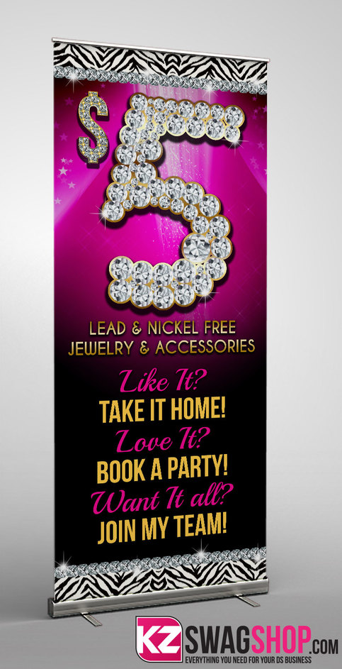 5 Bling Retractable Banner 6 183 Kz Creative Services