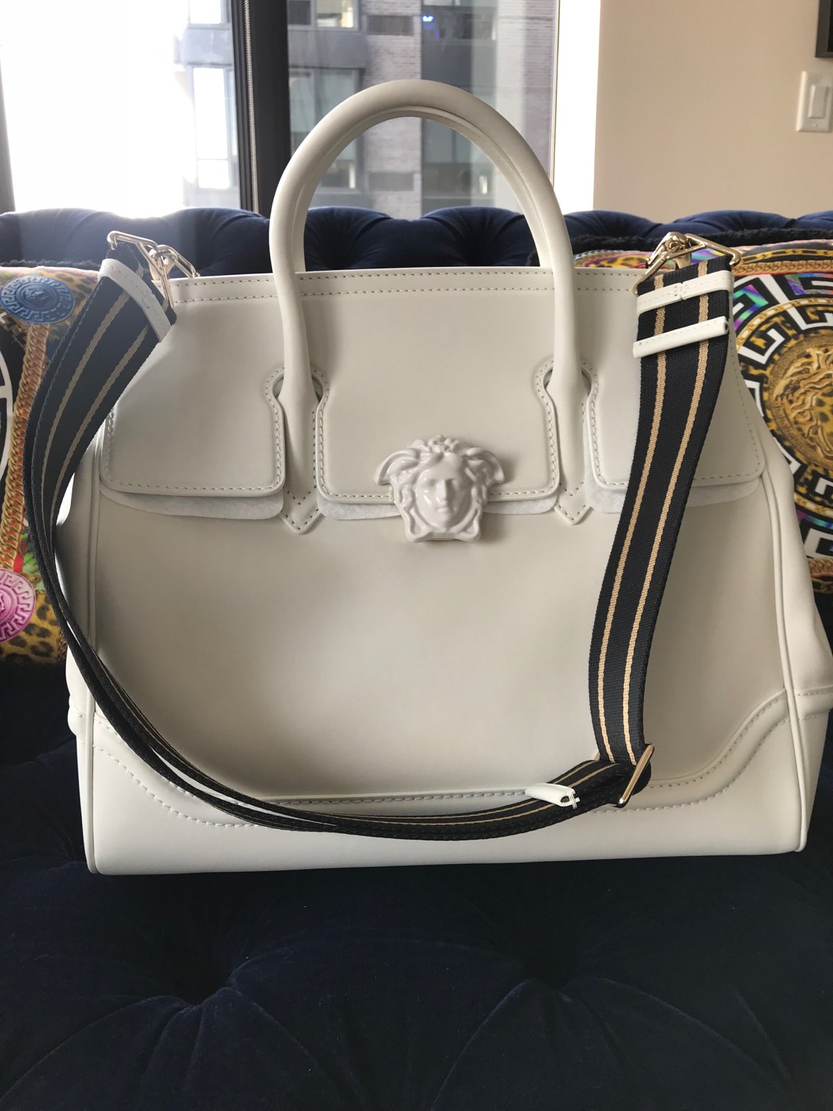 Versace  Palazzo Empire Large Bag (White) · Stush Fashionista ... 0619a68a78e1a