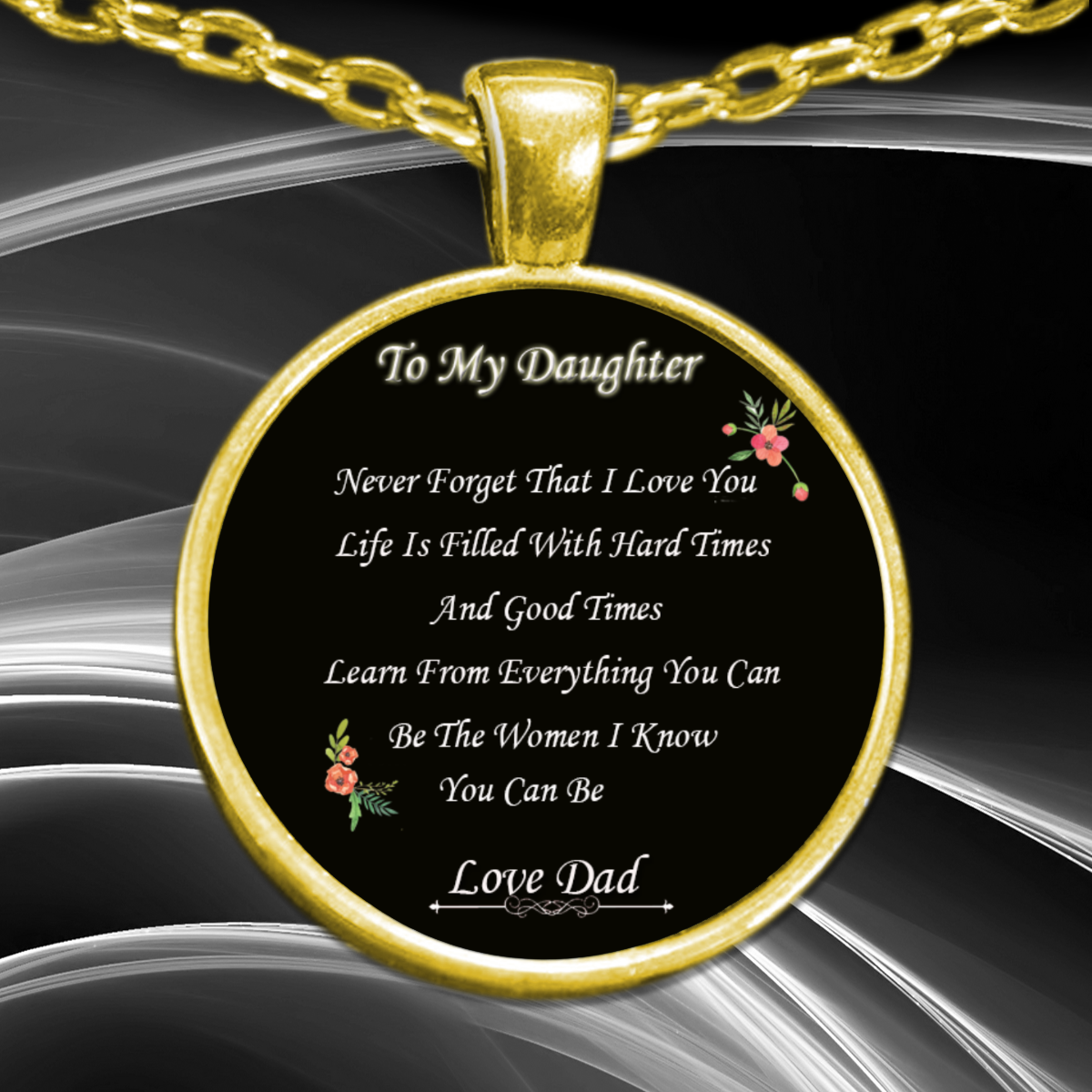 481327a67d408 Daughter Necklace - Never Forget That I Love You From Dad - Perfect Gift